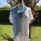 strikket tørklæde med spidser